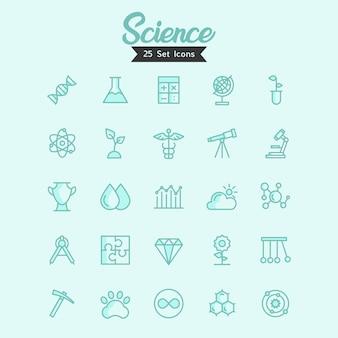 Iconos de ciencia vector estilo moderno