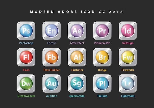 Iconos de la colección de adobe