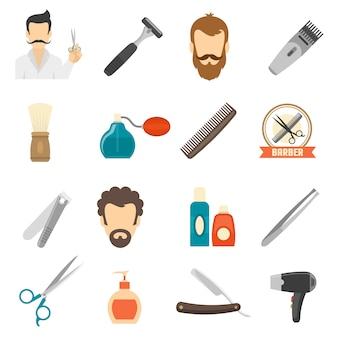Iconos de color barbero