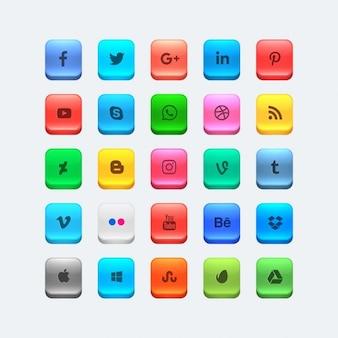 Iconos coloridos de redes sociales