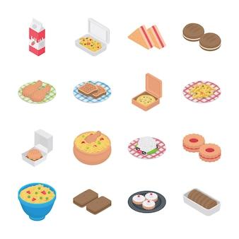 Iconos de comida y panadería