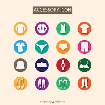 Iconos de complementos de moda