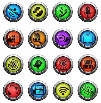 Iconos de comunicación. simplemente símbolo de iconos web