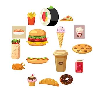 Iconos conjunto de alimentos