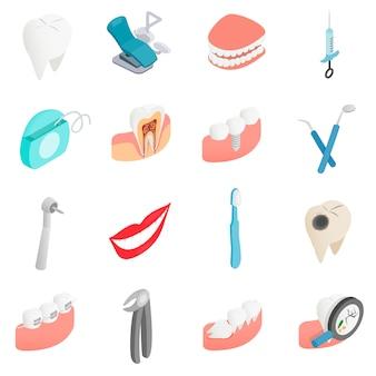 Iconos de conjunto dental