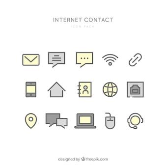 Iconos de contacto internet