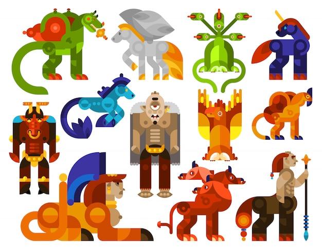Iconos de criaturas míticas