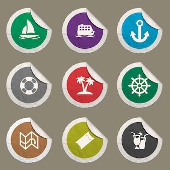 Iconos de crucero para sitios web e interfaz de usuario