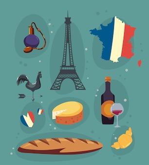 Iconos de la cultura de francia