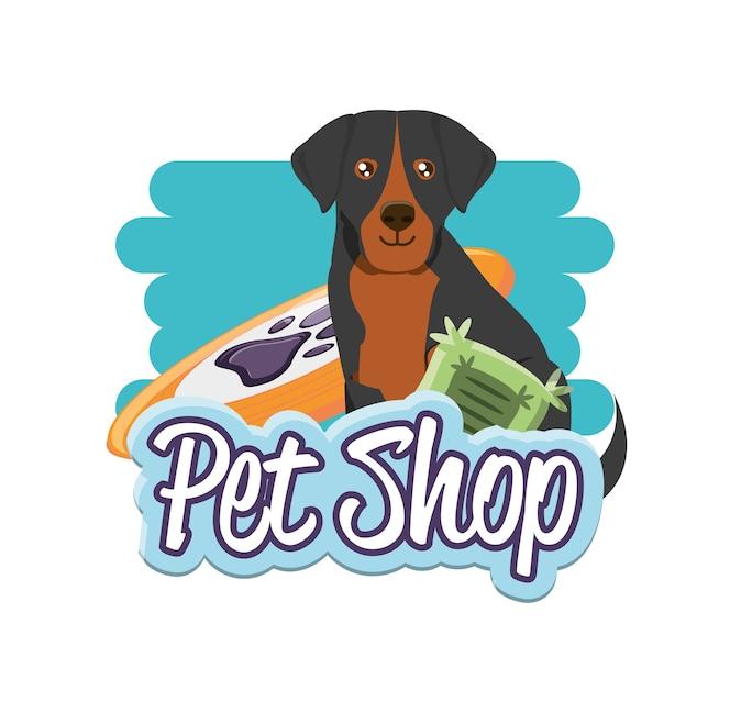 Iconos de accesorios de tienda de mascotas