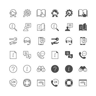 Iconos de ayuda y soporte