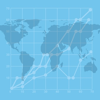 Iconos de estadísticas de economía de crecimiento