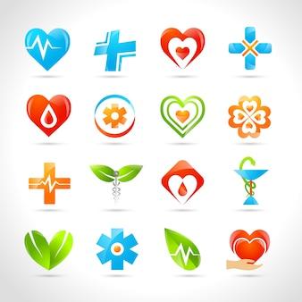 Iconos de logotipo médico
