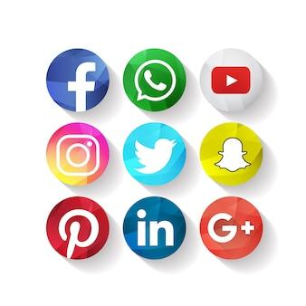 Iconos de medios sociales creativos facebook