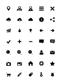 Iconos de móvil y web (rellenos)