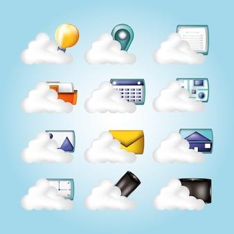 Iconos de redes sociales iconos vector ilustración diseño