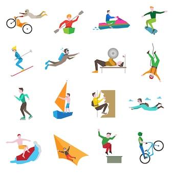 Iconos de deportes extremos