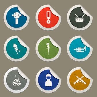 Iconos del día de los caídos para sitios web e interfaz de usuario