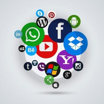 Iconos de las diferentes redes sociales