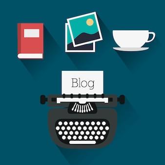 Iconos de diseño de blog