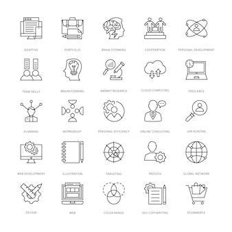 Iconos de diseño y desarrollo web