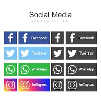 Iconos para el diseño de ilustración vectorial de redes sociales