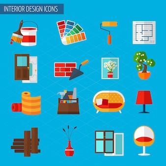 Iconos de diseño de interiores