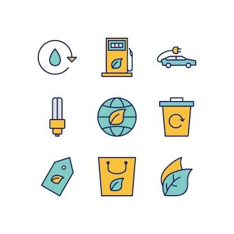 Iconos ecológicos para uso personal y comercial