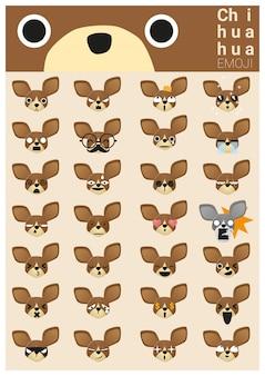 Iconos emoji de chihuahua