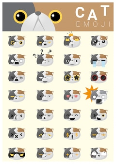 Iconos emoji de gato
