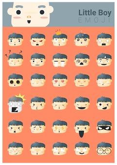 Iconos de emoji de niño pequeño