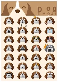 Iconos emoji de perro