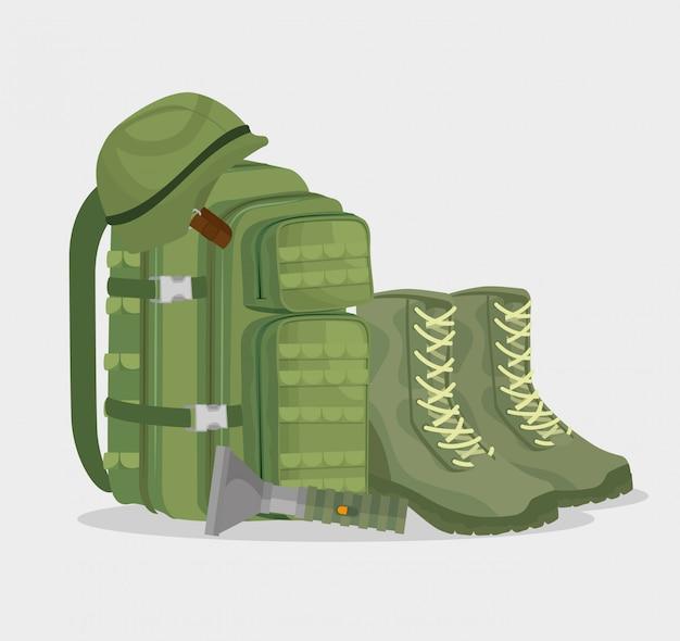 Iconos de equipo de guerra soldado