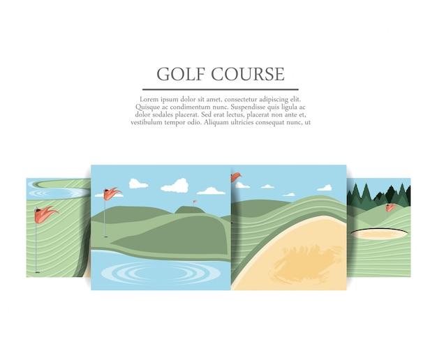 Iconos de escenas de maldiciones de golf