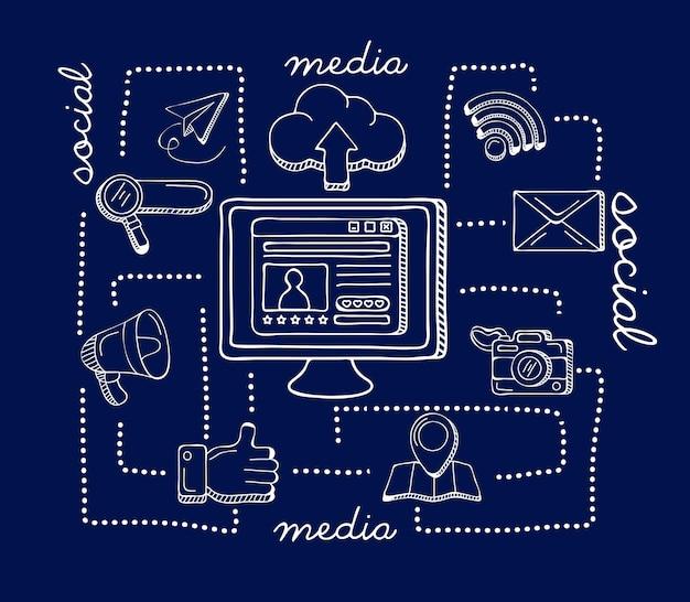Iconos de escritorio y redes sociales