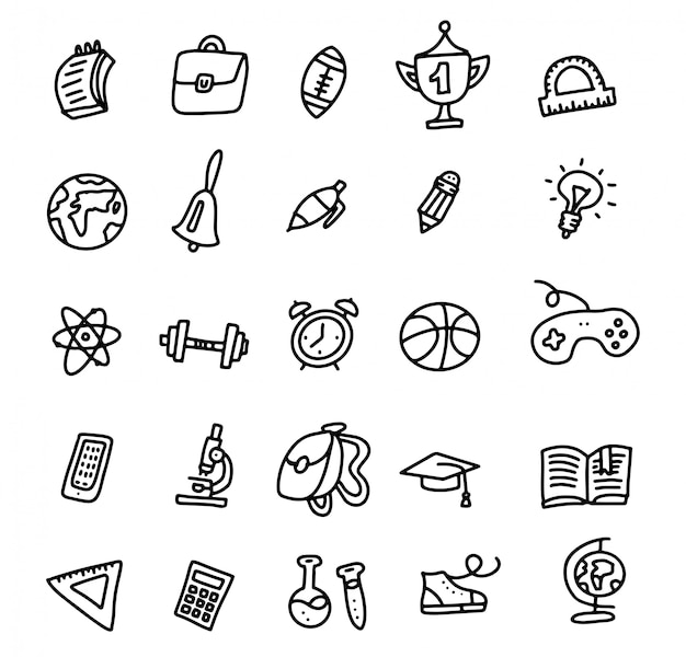 Iconos de la escuela de vuelta a la escuela