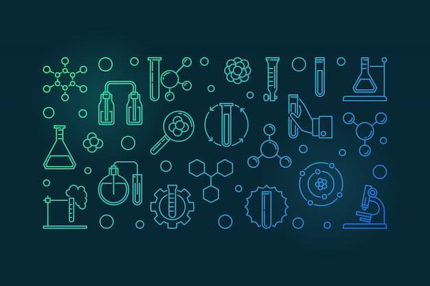 Iconos de esquema de análisis químico