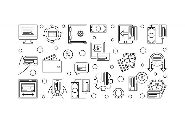 Iconos de esquema de dinero