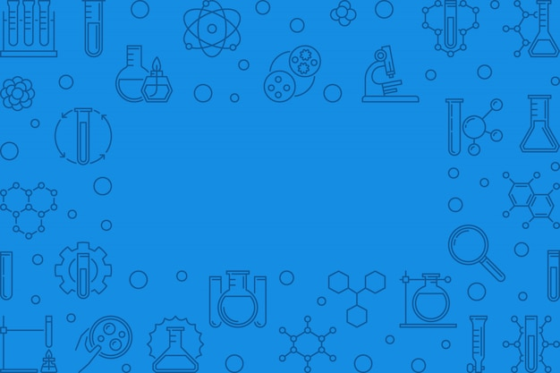Iconos de esquema de esquema químico