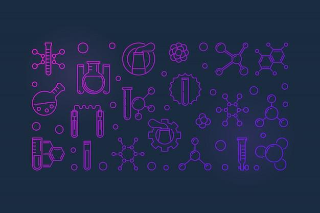 Iconos de esquema de la industria química