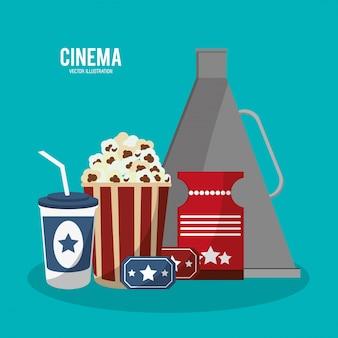 Iconos de estilo de película de cine