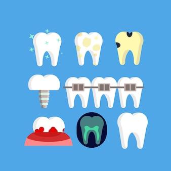 Iconos de estomatología dentista