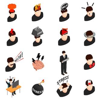 Iconos de estrés