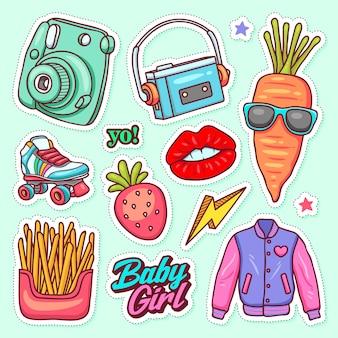 Iconos de etiqueta doodle dibujado a mano