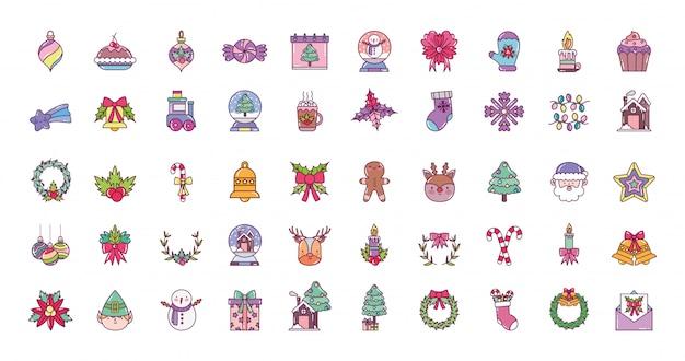 Iconos de feliz navidad