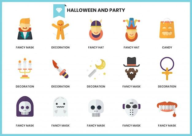 Iconos de fiesta para negocios