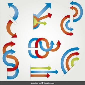 Iconos de flechas de colores