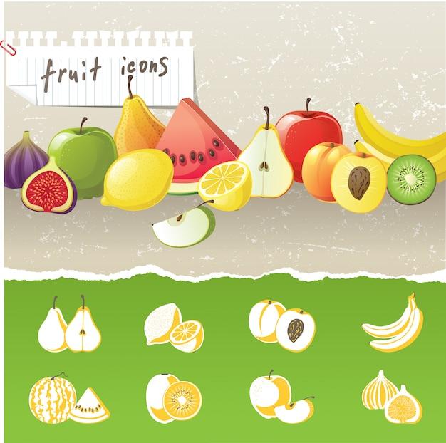 Iconos de frutas