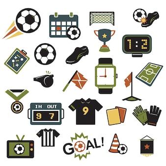 Iconos de fútbol colores