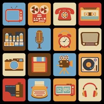 Iconos de gadget vintage